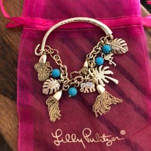 Lilly Pulitzer Gold Tone Charm Bracelet